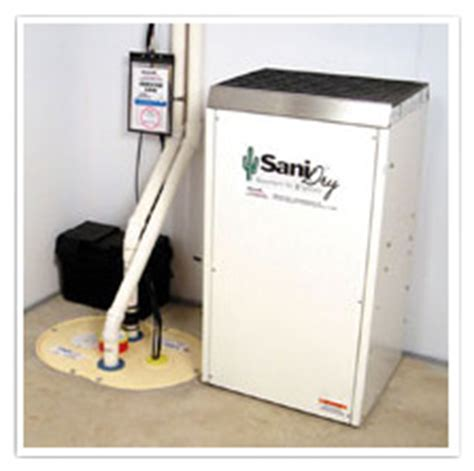 sanidry basement air system sanidry xp basement dehumidifier jes waterproofing