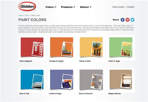 glidden interior paint color chart bedroom inspiration database