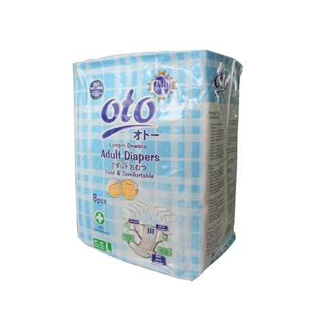 Oto L 8 diapers popok dewasa oto uk l isi 8 pcs ot 8l
