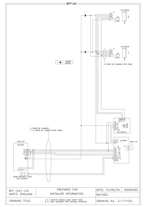 wiring diagram bpt intercom system webnotex
