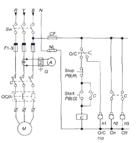 dol starter diagram powertips motor starting schemes