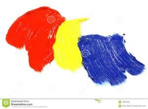 primaire kleuren acrylverf stock fotografie afbeelding