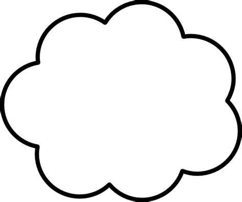 cloud shape in visio cloud clip at clker vector clip