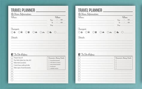 10 Useful Itineraries Templates Wedding Traveling Events Utemplates Travel Planner Template
