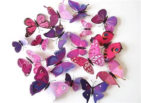 purple butterfly wall stickers purple butterfly wall decals room decor wall by