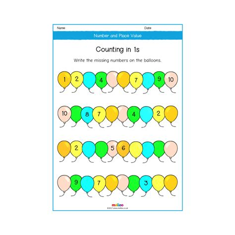 number and place value y1 worksheets maths melloo