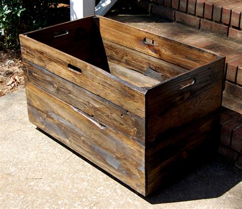 oversized wooden crate from reclaimed wood by