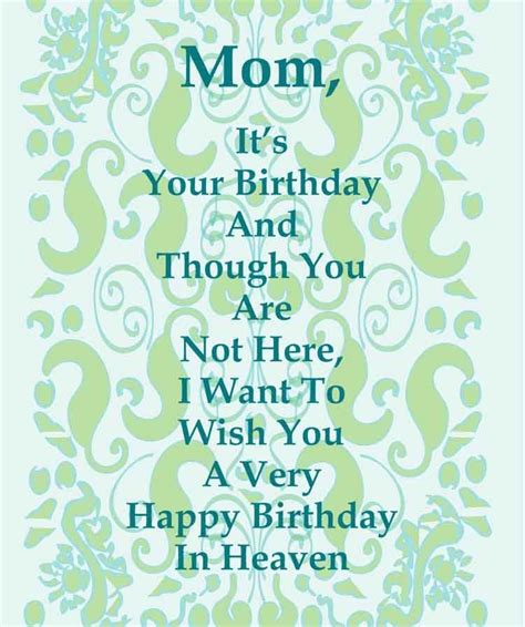 Birthday Cards For The Deceased Items Similar To Happy Birthday Card To A Deceased Mom