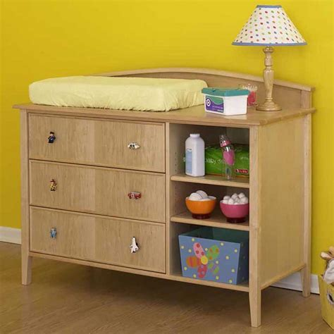 Double Duty Changing Table Dresser Woodworking Plan From Dresser Changing Tables