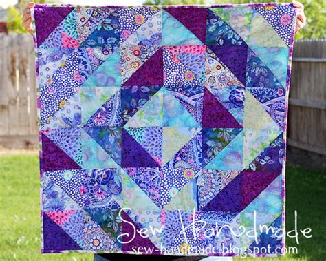 How Much Are Handmade Quilts Worth - purple blue values quilt more details at www