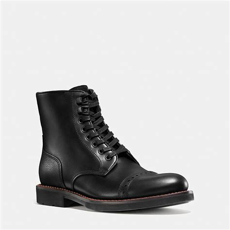 coach boots mens coach mens boots bleecker cap toe boot