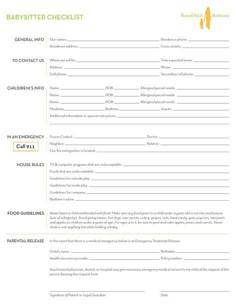 Download Babysitter Checklist Template Excel Pdf Rtf Word Freedownloads Net House Sitter Checklist Template