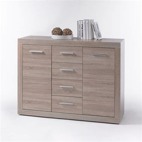 kommode highboard kommode cancan 4 sideboard highboard wei 223 und sonoma eiche