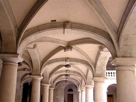 Rib Vaulted Ceiling by Gallery Groin Vault Ceiling