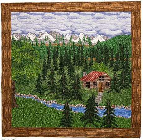 Cabin In The Woods Free by Cabin In The Woods Quilt Free Quilt Pattern Craft