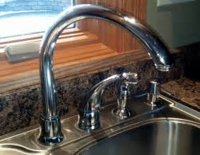fix a kitchen faucet how to fix leaking moen high arc kitchen faucet diy