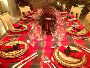 Deco Table Noel Rouge