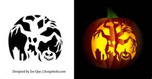 free printable scary pumpkin carving free printable scary pumpkin carving pattern designs