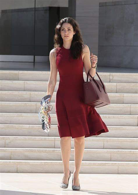 emmy rossum red dress emmy rossum in red dress leaving a birthday party at