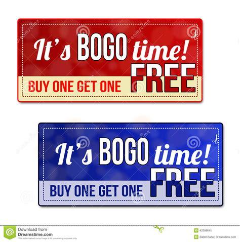 bogo coupon voucher tag stock vector image 42598645