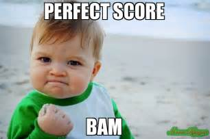 Perfect Meme - perfect score bam meme success kid original 234876