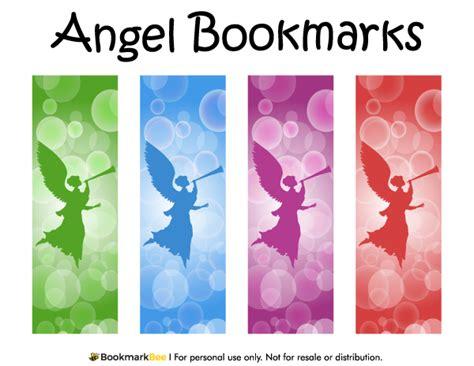 printable bookmarks pdf free printable angel bookmarks download the pdf template