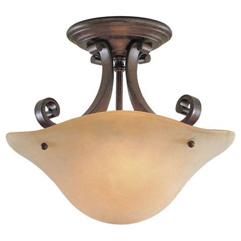 bronze semi flush mount light feiss tuscan villa 2 light corinthian bronze semi flush