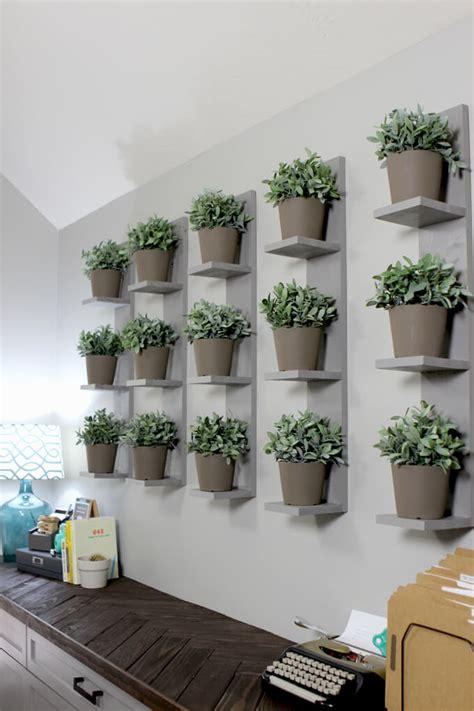 wall mounted plant shelves diy