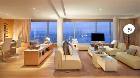 living in a hotel room living dining views w hotel barcelona by ricardo bofill