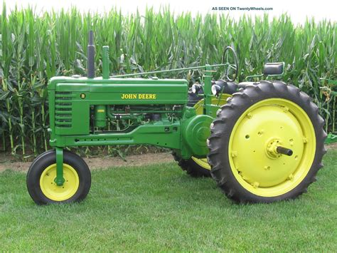jd id deere b tractor and model 44 plow