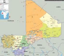 political map of mali ezilon maps