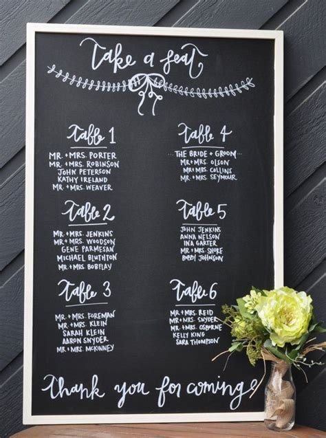 Chalkboard Wedding Seating Chart // 23x35 // Chalkboard