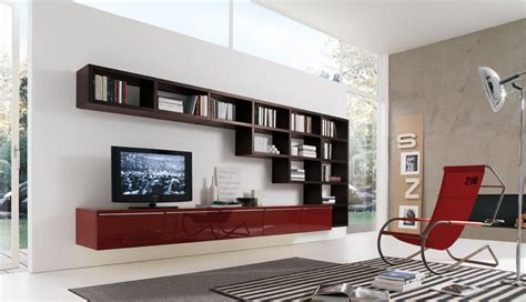 Living Room Shelf Unit 20 Modern Living Room Wall Units For Book Storage From