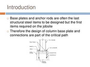 Pedestal Footing Design Of Column Base Plates Anchor Bolt