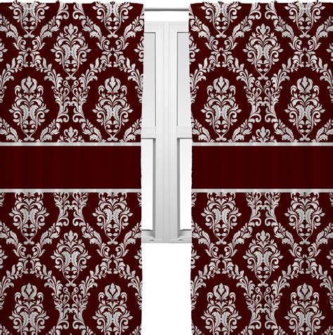 maroon curtains maroon white curtains 2 panels per set personalized