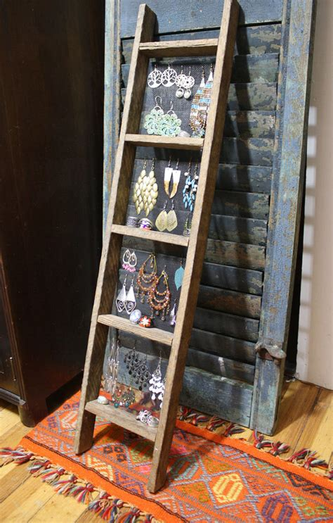 How To Display Handmade Jewelry - handmade ladder jewelry display primitive unique jewelry