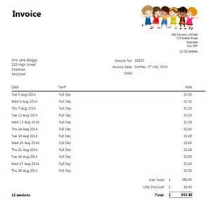 invoicing nursery genie
