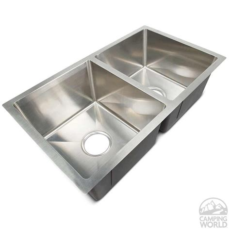 rv bathroom sink replacement genuine stainless steel sinks double lippert components