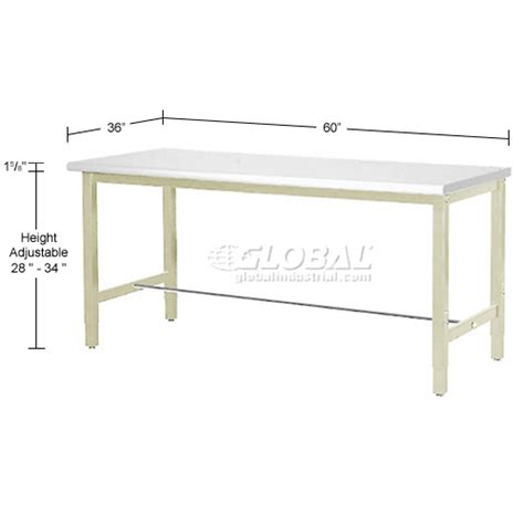 laboratory work bench adjustable height 60 quot w x 36 quot d