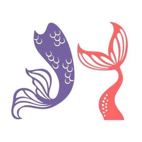 mermaid tail cuttable design cut file vector clipart