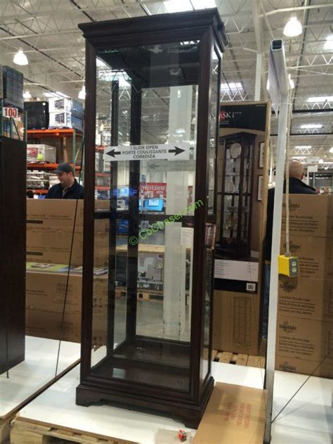 sliding door display cabinet pulaski display cabinet costcochaser