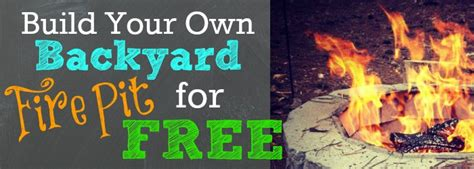 build your own backyard pit for free jpg