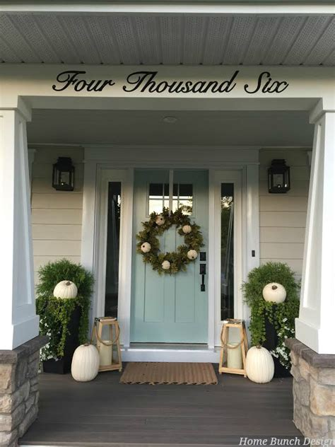 Front Entry Decor 2016 Farmhouse Fall Decorating Ideas Home Bunch