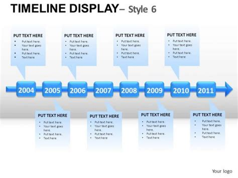 free powerpoint timeline template business timelines
