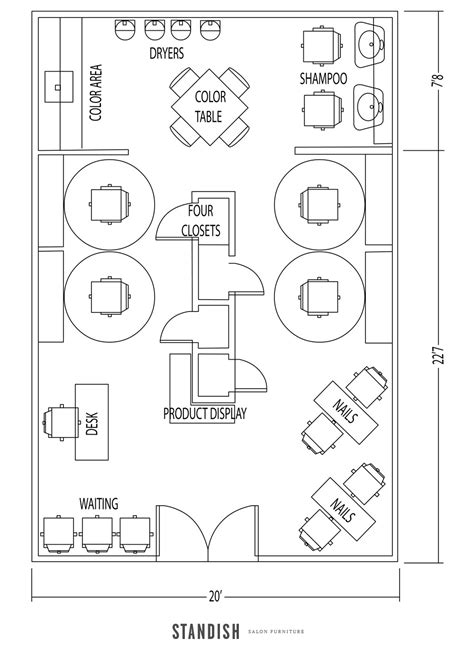 nail salon floor plan design 5 amazing salon floor plan designs