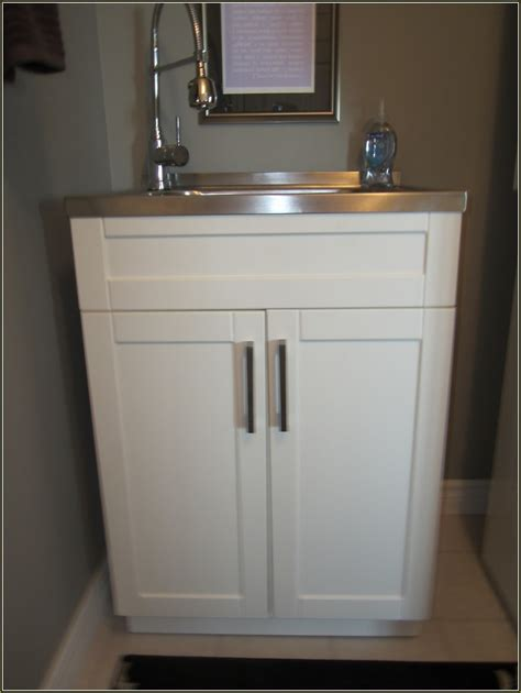 Laundry room sink cabinet home depot home design ideas laundry utility sinks with cabinet enrdph