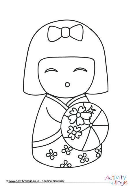 coloring pages kokeshi dolls kokeshi doll colouring page 5