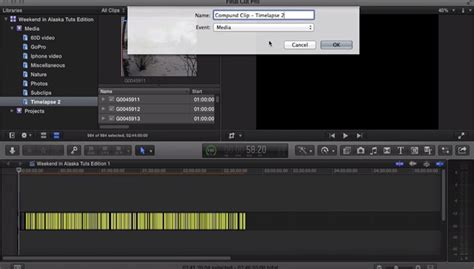 final cut pro time lapse how to create a timelapse video in final cut pro x