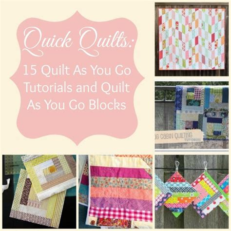 Quilt As You Go Methods by Quilt As You Go Log Cabin Quilt Favequilts