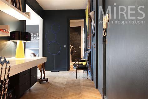 parisian apartment  white  black  mires paris
